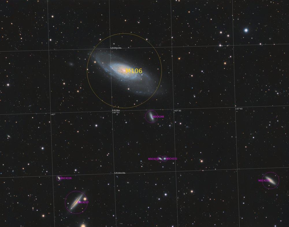 M106 et ses voisines M106T3_Annotated.thumb.jpg.005e0c4b5118490d9cd3390d59d0df66